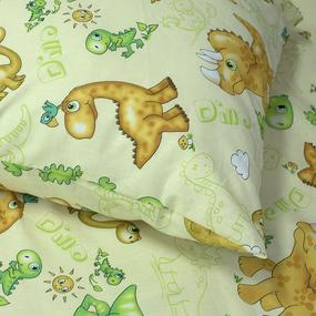 Наволочка бязь детская 203131 Динозаврики упаковка 2 шт 50/70 см фото
