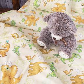 Пододеяльник бязь детская 203131 Динозаврики 1.5 сп фото