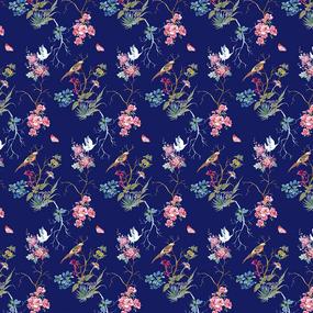 Бязь Премиум 220 см набивная Тейково рис 6810 вид 1 Мирабель фото