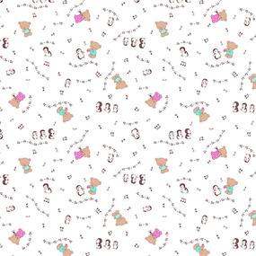 Ткань на отрез ситец 95 см 21168/1 Музыкальные нотки фото