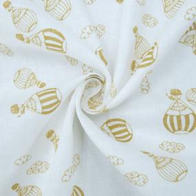 Ткань на отрез муслин 150 см Воздушные шары фото