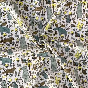 Ткань на отрез муслин 135 см 7338/1 Лесные жители фото