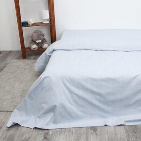 Пододеяльник из перкаля 204939 Эко 9 светло-голубой, 2-x спальный фото