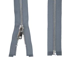 Молния металл №5ТТ никель разъём 75см D243 серый фото