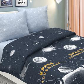 Поплин 220 см 826-1 Галактика основа (светится в темноте) фото