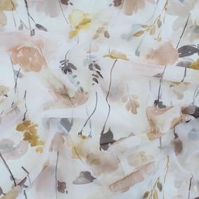 Ткань на отрез Вуаль 150 см цвет 3754-88 бежевый фото