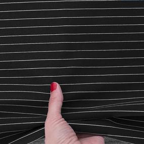 Ткань на отрез футер с лайкрой Жаккард цвет черный фото
