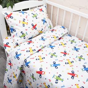Постельное белье в детскую кроватку из поплина 2014 фото
