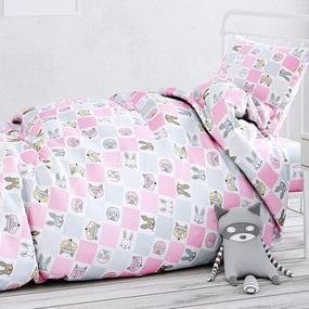 Сатин детский 150 см 7296/2 Лоскуток цвет розовый фото