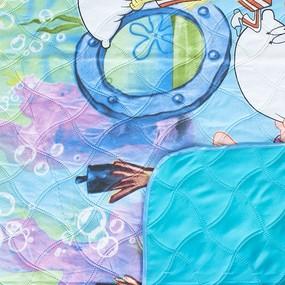 Покрывало детское ультрастеп двухстороннее 761 вид 1 Губка Боб 105/150 см фото