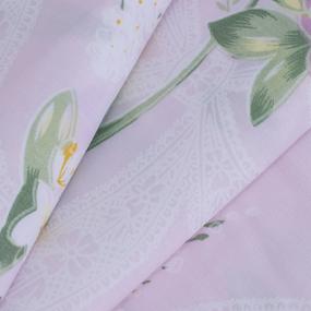 Ткань на отрез Тик 220 см 145 +/- 5 гр/м2 Цветная роза цвет розовый 005 фото