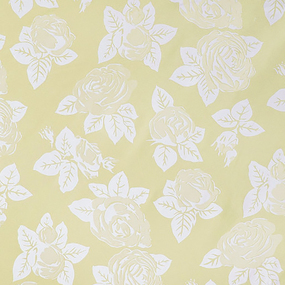 Ткань на отрез Тик 220 см 145 +/- 5 гр/м2 Розы цвет желтый F114 фото
