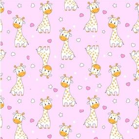 Ткань на отрез фланель 90 см 9980/2 Жирафики цвет розовый фото