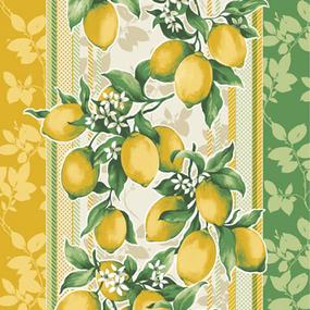 Ткань на отрез вафельное полотно 50 см 170 гр/м2 198561 Лимоны фото