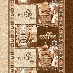 Ткань на отрез вафельное полотно 50 см 170 гр/м2 99221 Кофе фото