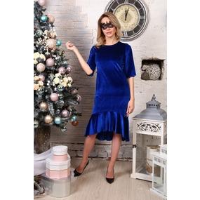 Платье Ида синее Д513 р 56 фото