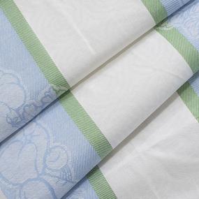 Ткань на отрез полулен полотенечный 50 см Жаккард Овощи 5 голубой фото