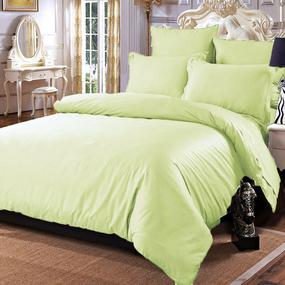 Постельное белье сатин 12-0312 Светло-зеленый 2-х сп с евро простыней фото