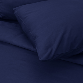 Постельное белье сатин 19-3933 Королевский синий 1.5 сп с 1-ой нав. 70/70 фото
