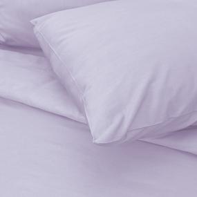Постельное белье сатин 13-3820 Светло-сиреневый 1.5 сп с 1-ой нав. 70/70 фото