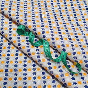 Ткань на отрез бязь плательная 150 см 11697/1 цвет желтый фото