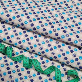Ткань на отрез бязь плательная 150 см 11697/2 цвет синий фото