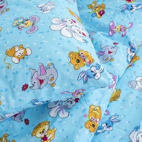 Детское постельное белье из бязи 1.5 сп 4605/1 Солнца лучик золотой голубой фото