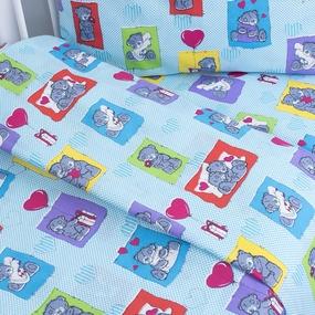 Постельное белье в детскую кроватку 1469 с простыней на резинке фото