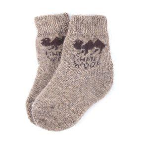 Детские носки теплые шерстяные 2007 17 см фото