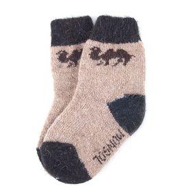 Детские носки теплые шерстяные 2008 17 см фото
