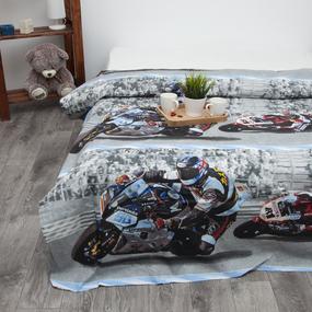 Пододеяльник детский из бязи 4297/1 Супербайк, 1,5 спальный фото