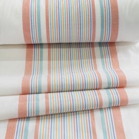 Ткань на отрез полулен полотенечный 50 см 3/47/54 Петунья оранжевая 70309 фото