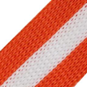 Лампасы №84 белый оранжевый 2 см 1 метр фото