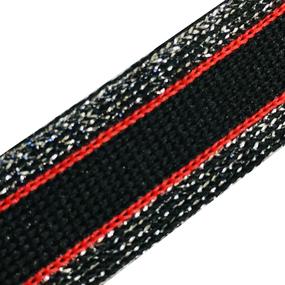Лампасы №77 черный красный люпекс серебро 2 см 1 метр фото