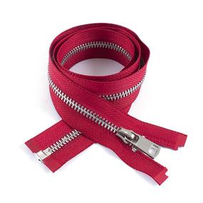 Молния металл №5ТТ никель разьем 75см D171 красный фото