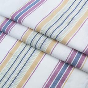 Ткань на отрез полулен полотенечный 50 см 3/48/77 Полоса тициан зеленый 703096 фото