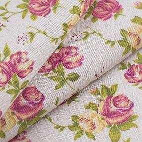 Ткань на отрез лен TBY-DJ-14 Роза фото