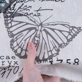 Ткань на отрез лен TBY-DJ-16 Бабочки фото