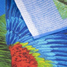 Полотенце вафельное пляжное 386/1 Попугаи 150/75 см фото