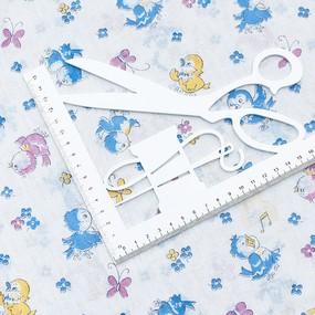 Ткань на отрез ситец белоземельный 80 см 9302 фото