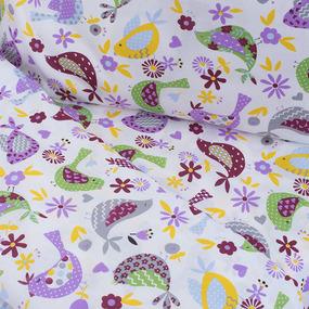 Постельное белье в детскую кроватку 1801/2 сирень фото