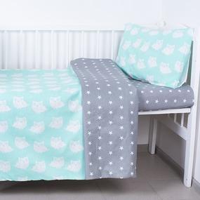 Постельное белье в детскую кроватку 1700/17+1682/16 фото