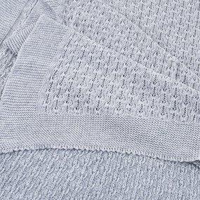 Покрывало-плед Паучок 150/200 цвет серый фото