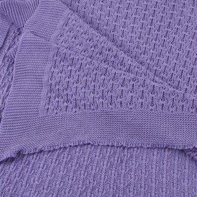 Покрывало-плед Паучок 150/200 цвет фиолетовый фото
