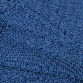 Покрывало-плед Коса 180/200 цвет синий фото