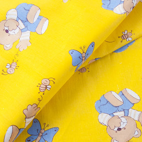 Ткань на отрез бязь ГОСТ детская 150 см 1332/4 цвет желтый фото