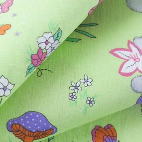 Ткань на отрез бязь ГОСТ детская 150 см 1304/3 Лесная сказка цвет зеленый фото