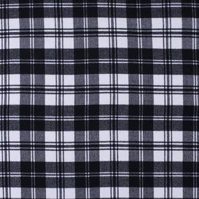 Ткань на отрез кашемир К-1 Клетка цвет черно-белый фото