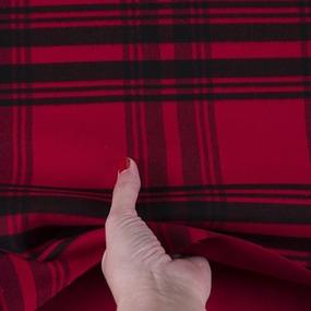 Ткань на отрез кашемир К-2 Клетка цвет красный фото
