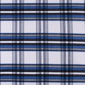 Ткань на отрез кашемир К-3 Клетка цвет бело-синий фото